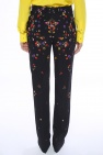 Floral motif pleat-front trousers od Givenchy