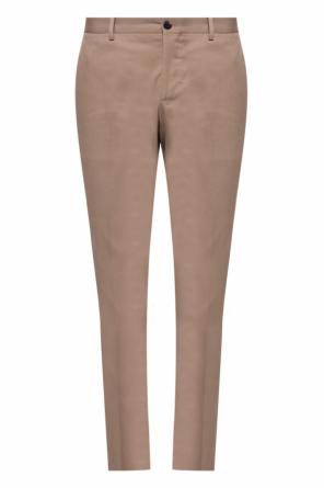 Tapered leg pleat-front trousers od Etro