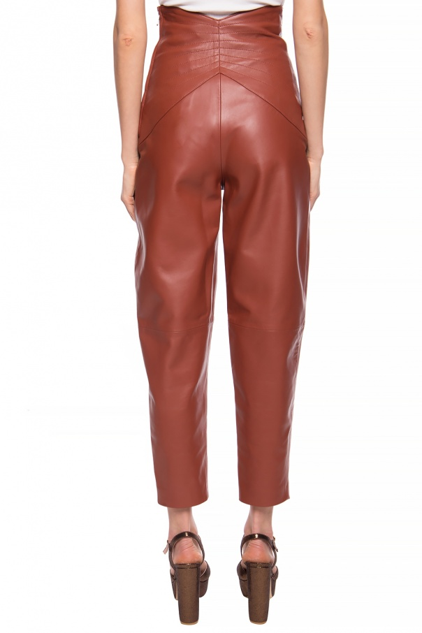 High-waisted leather trousers od The Attico