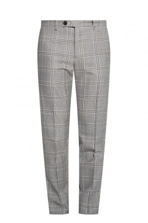 Checked pleat-front trousers od Vivienne Westwood