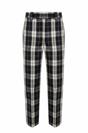 Pleat-front checked trousers od MSGM