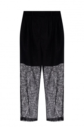 High-waisted lace trousers od MSGM