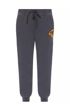 Spodnie dresowe z aplikacją z logo od Vivienne Westwood