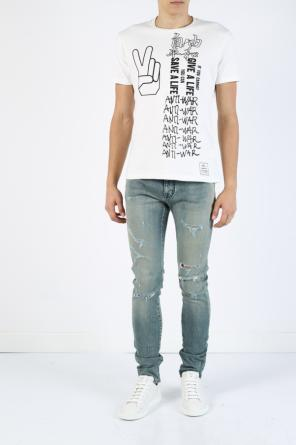 Distressed jeans od Saint Laurent Paris