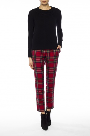 Checked pleat-front trousers od Burberry