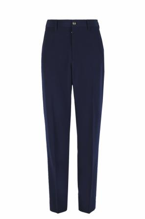 Wide leg pleat-front trousers od Gucci