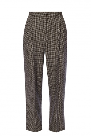 Patterned pleat-front trousers od The Row