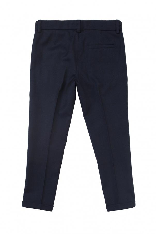 Eleganckie spodnie w kant od Gucci Kids