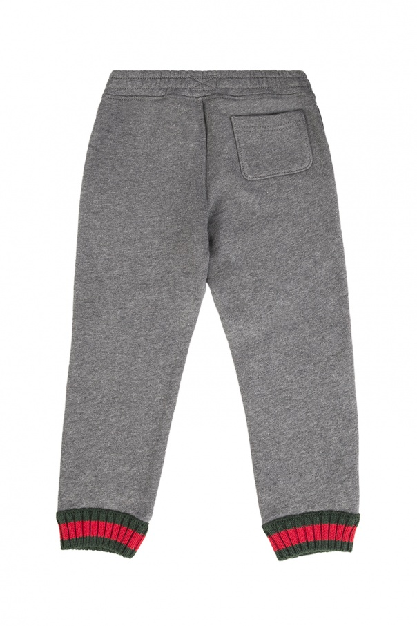 Decorative cuff sweatpants od Gucci Kids
