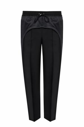 Side-stripe pleat-front trousers od Burberry