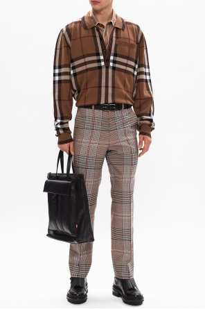 Checked trousers od Burberry