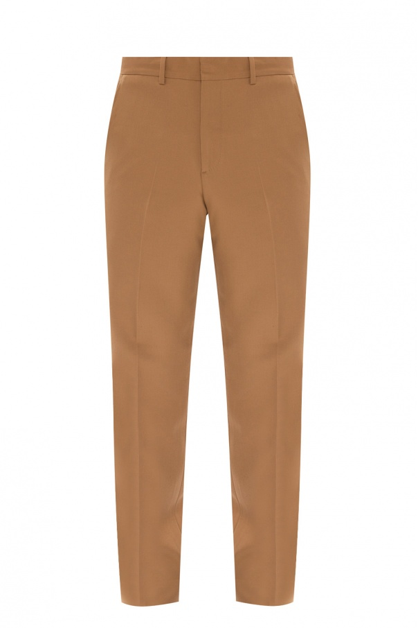 Burberry Pleat-front wool trousers