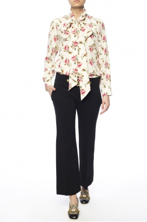 Pleat-front flared trousers od Gucci