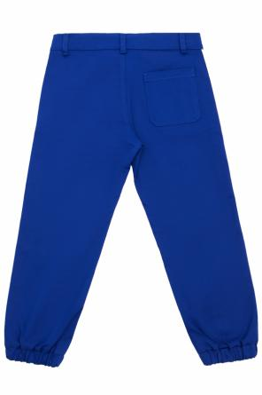 Side-stripe trousers od Gucci Kids