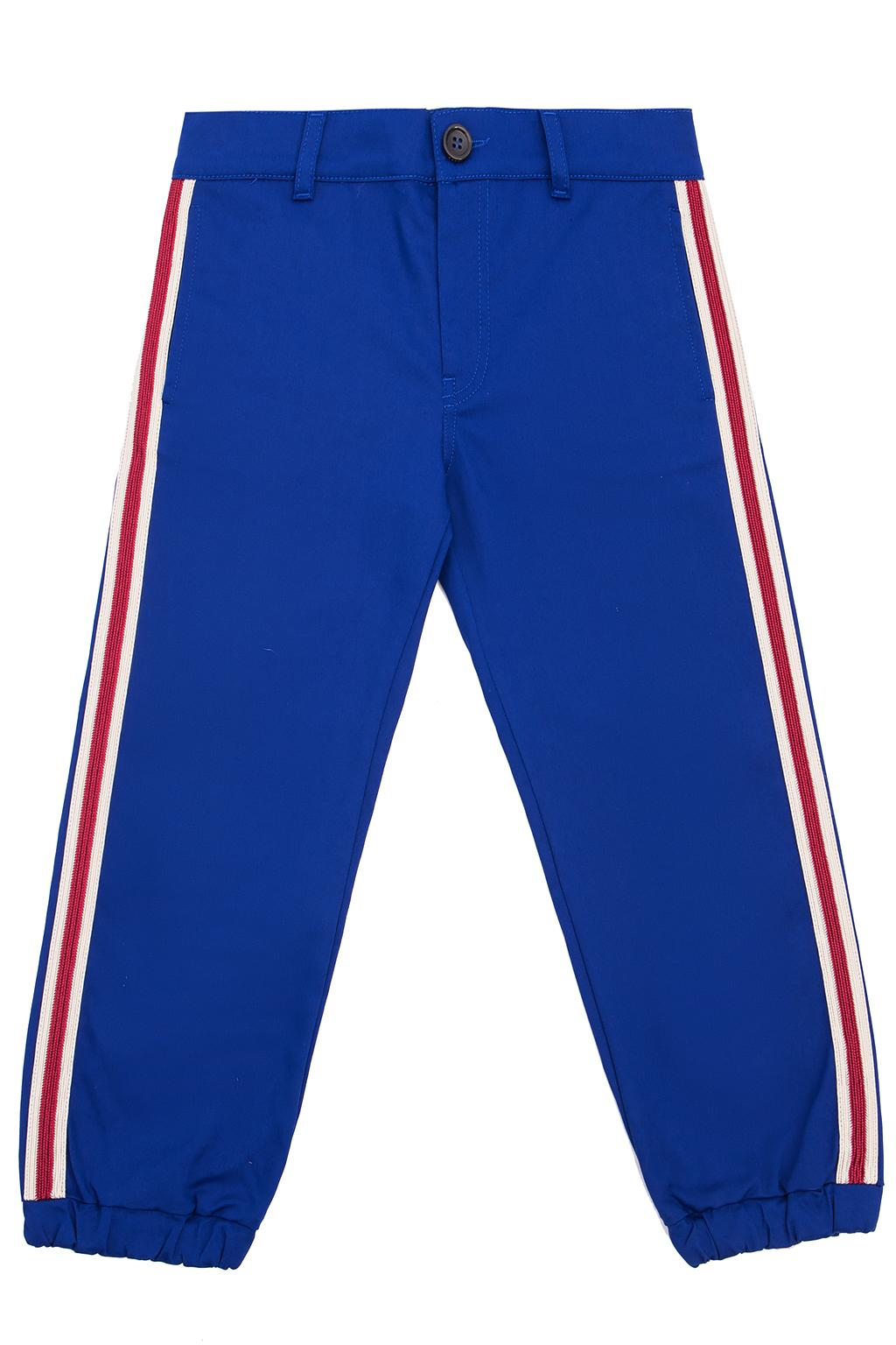 Gucci Kids Side-stripe trousers