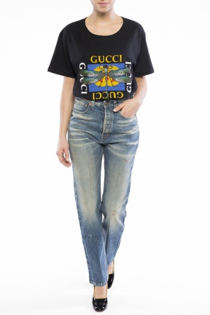 High-waisted jeans od Gucci