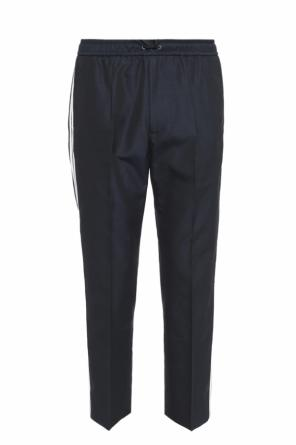 Side-stripe pleat-front trousers od Gucci