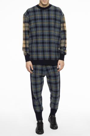 Checked dropped crotch trousers od Stella McCartney
