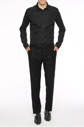 Side-stripe pleat-front trousers od Saint Laurent