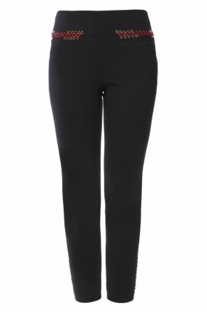 Lacing detail trousers od Alexander McQueen