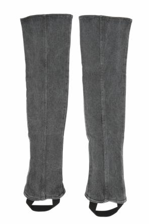 Denim pant legs od Saint Laurent Paris