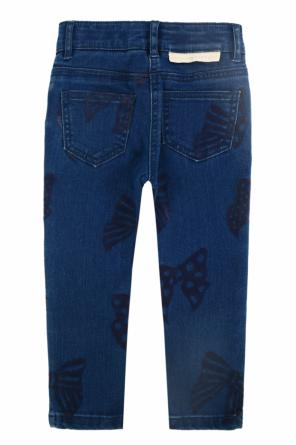 Velvet-pattern jeans od Stella McCartney Kids