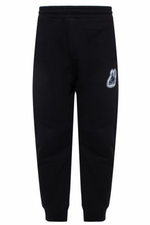 Tracksuit bottoms with logo and a swallow motif od McQ Alexander McQueen