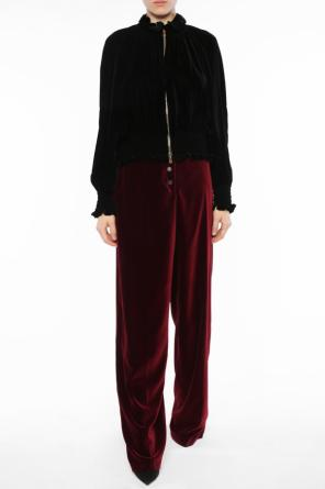 Wide leg velvet trousers od Stella McCartney