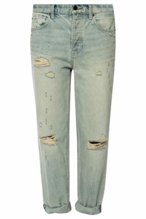 'slack' jeans with holes od T by Alexander Wang