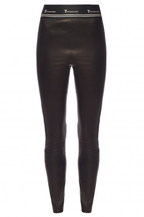 Leather trousers with logo od T by Alexander Wang