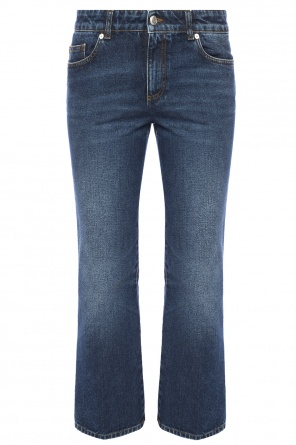 Jeans with stitching od Alexander McQueen