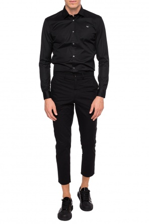 Trousers with embroidered logo application od McQ Alexander McQueen