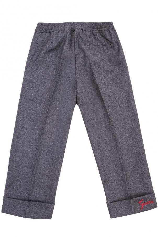 Pleat-front trousers od Gucci Kids