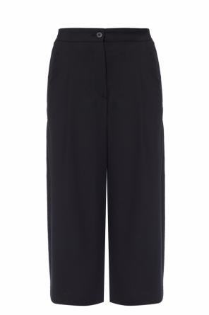 Cropped pleat-front trousers od McQ Alexander McQueen