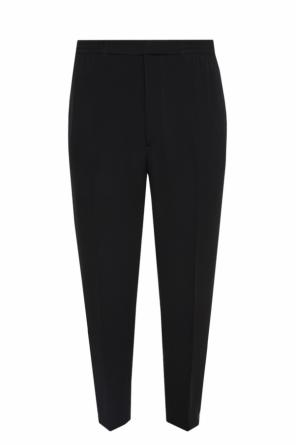 Trousers with zip cuffs od Alexander McQueen