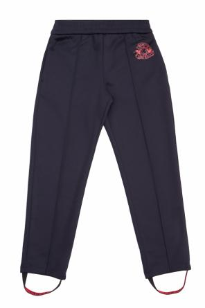 Sweatpants with sewn-in crease od Gucci Kids