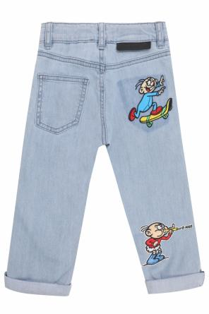 Jeans with colorful patches od Stella McCartney Kids