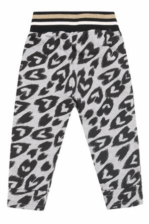 Sweatpants with a heart pattern od Stella McCartney Kids