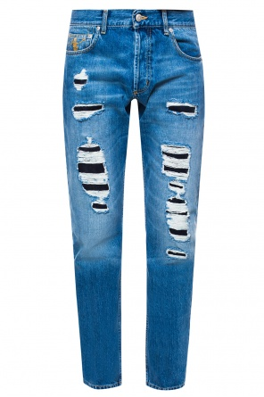 Distressed jeans od Alexander McQueen
