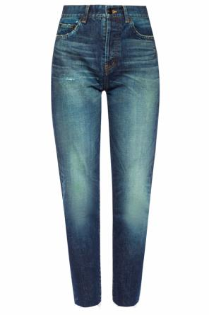 Jeans with a raw finish od Saint Laurent