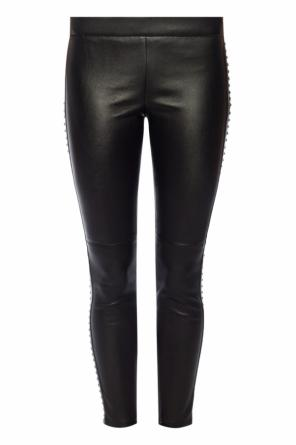 Leather trousers od Alexander McQueen