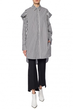 Side-stripe flared trousers od Alexander McQueen