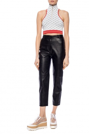 Trousers made of fabric imitating leather od Stella McCartney