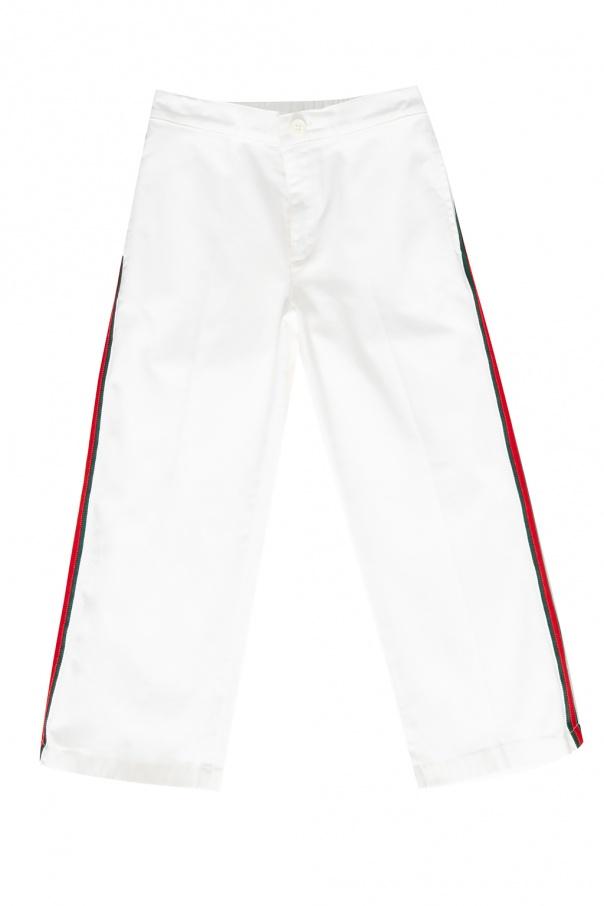Gucci Kids Side-stripe trousers