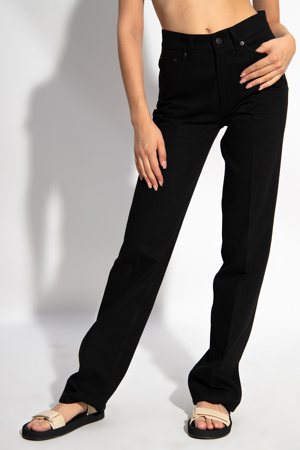 The Row Pleat-front jeans