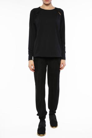 Mesh-trim trousers od Diesel