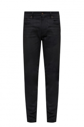 Crinkle-effect jeans od Saint Laurent