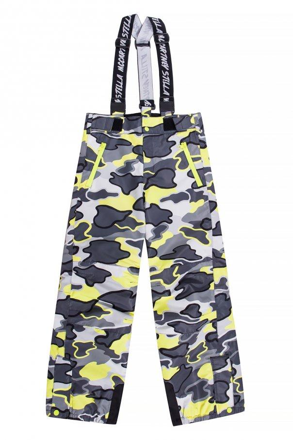 Stella McCartney Kids Ski trousers with printed pattern