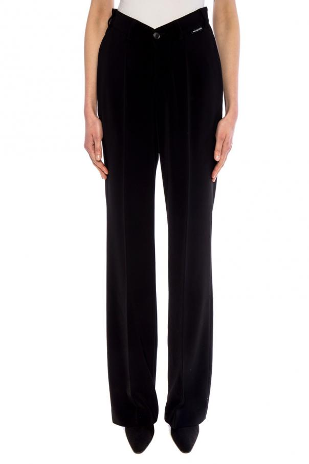 Wide-legged pleat-front trousers od Balenciaga