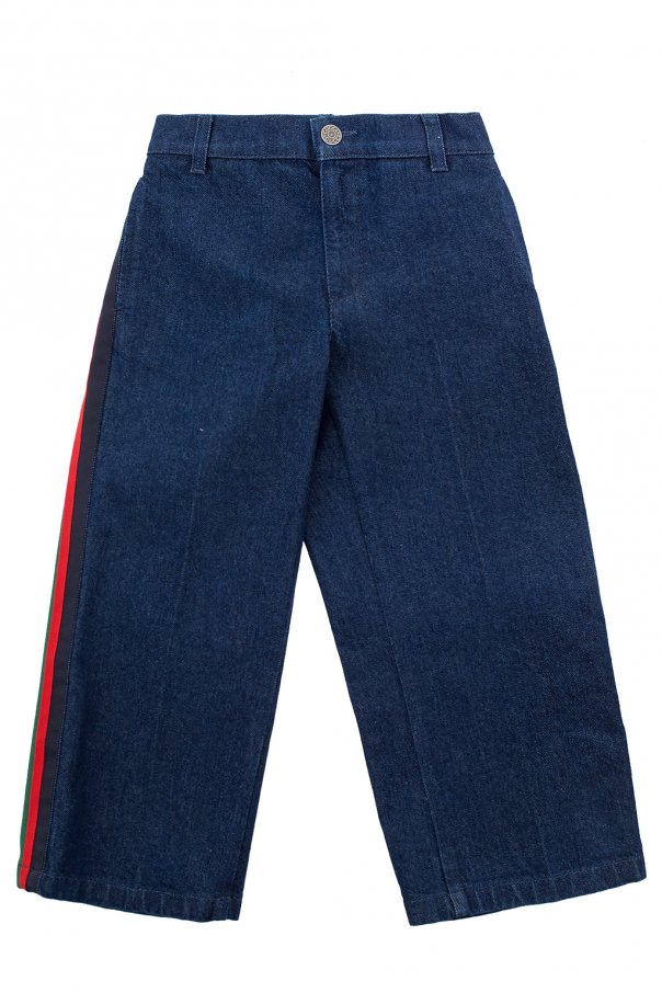 Gucci Kids Side stripe jeans
